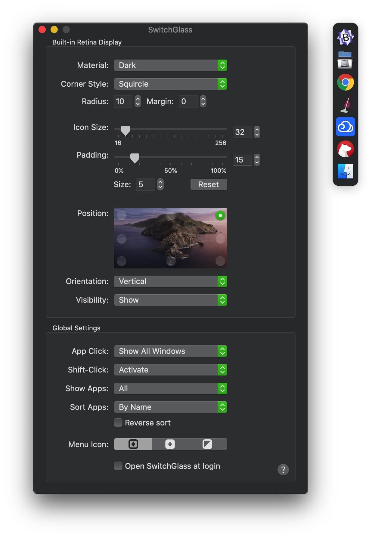 SwitchGlass 1.4.5 破解版 应用程序切换工具-马克喵