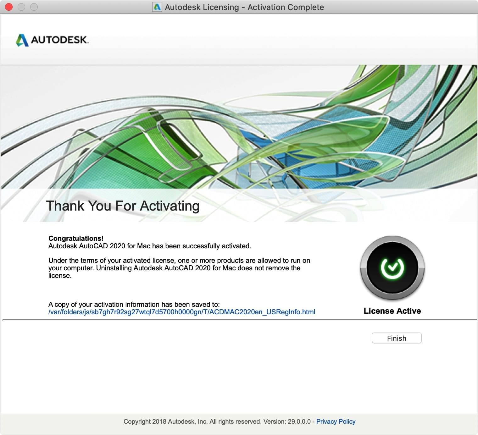 AutoCAD 2020.2 for Mac  英文版破解教程 Mac教程 第13张