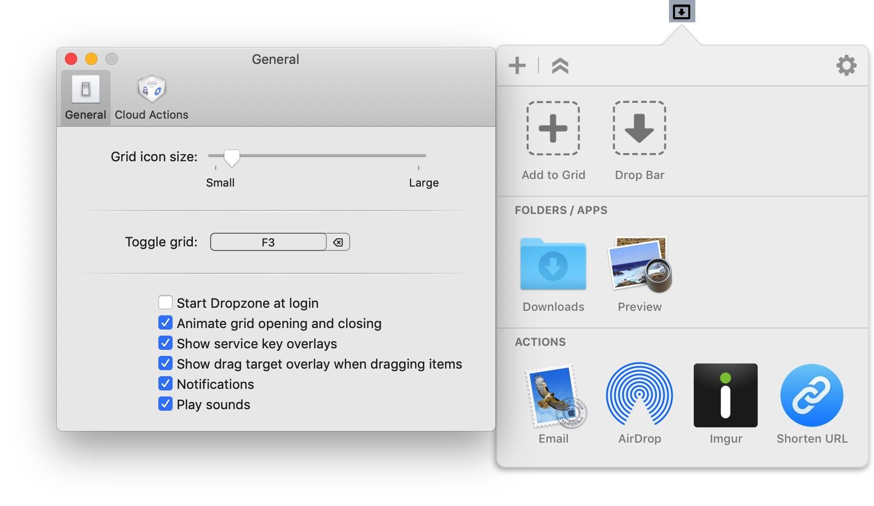 Dropzone Pro 4.1.4  文件拖拽操作增强工具  第2张