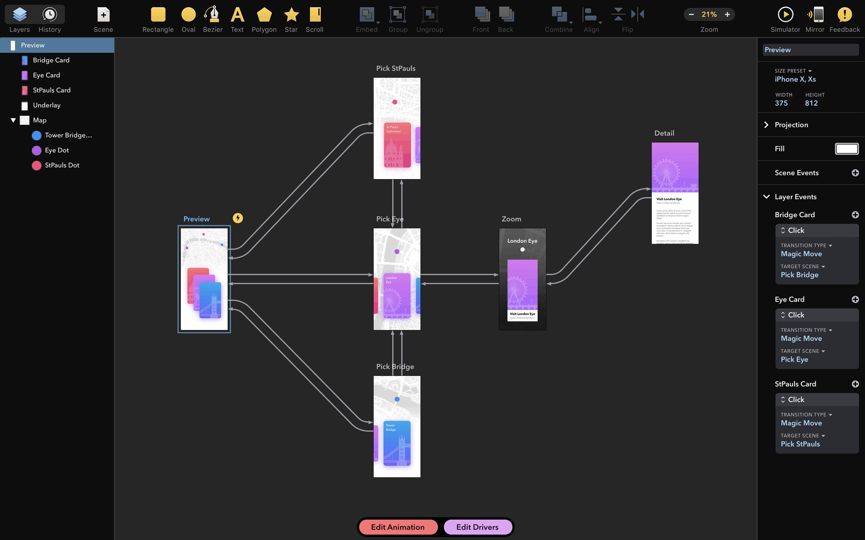 Drama 2.1 原型交互动画和设计三合一-马克喵